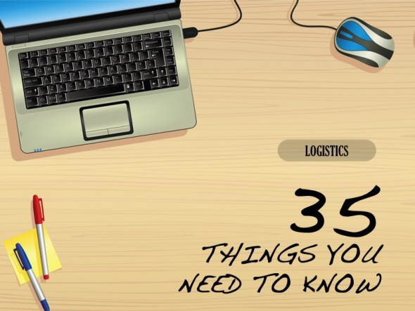 LOGISTICS: 35 THINGS YOU NEED TO KNOW